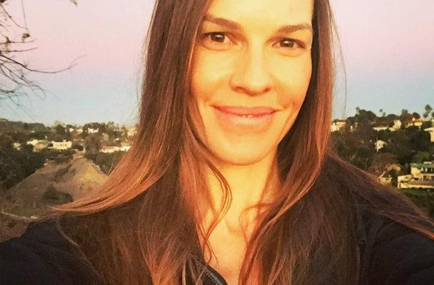 Boost your upper body like Hilary Swank with standing rows