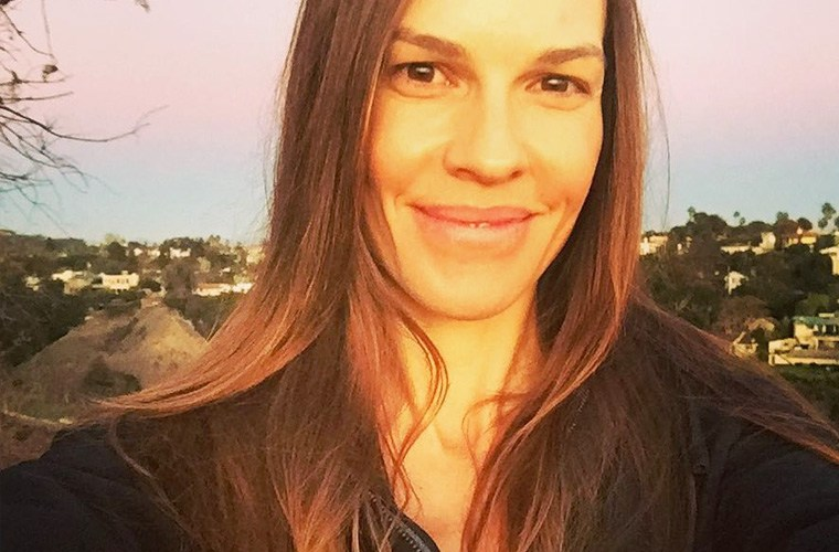 Do standing rows for biceps like Hilary Swank | Well+Good