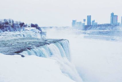 Niagara Falls is covered in ice, and it looks absolutely *magical*