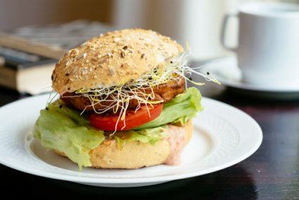 The fruity main ingredient of this vegetarian burger is pretty surprising