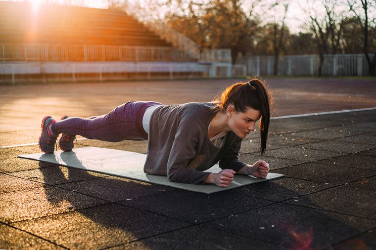 Runner back pain tip: Try planks