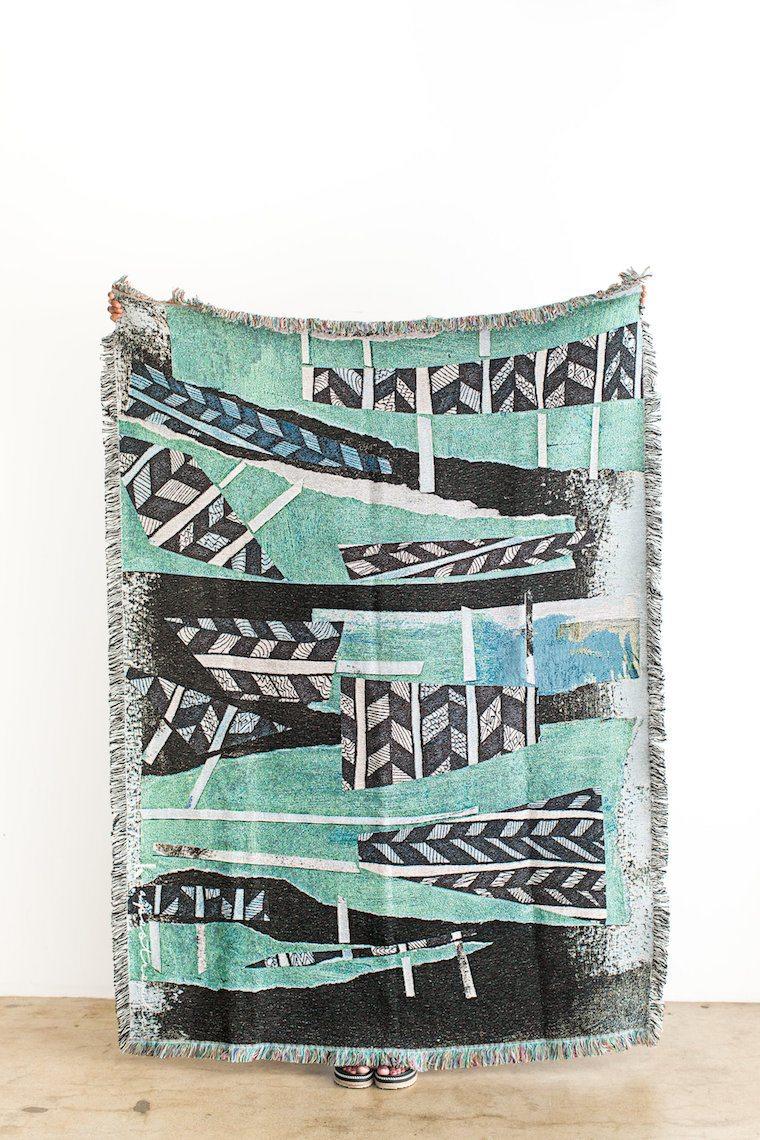Blankets as art.