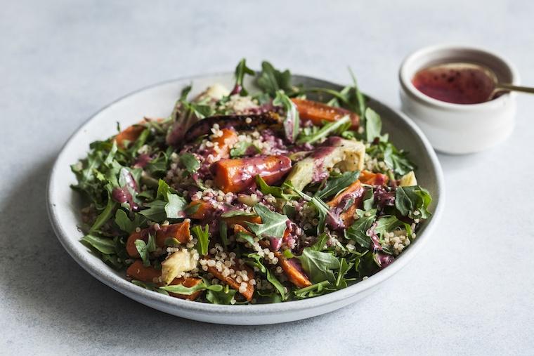 Flora Health blueberry chia salad Udos oil