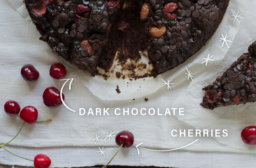 cherries and dark chocolate