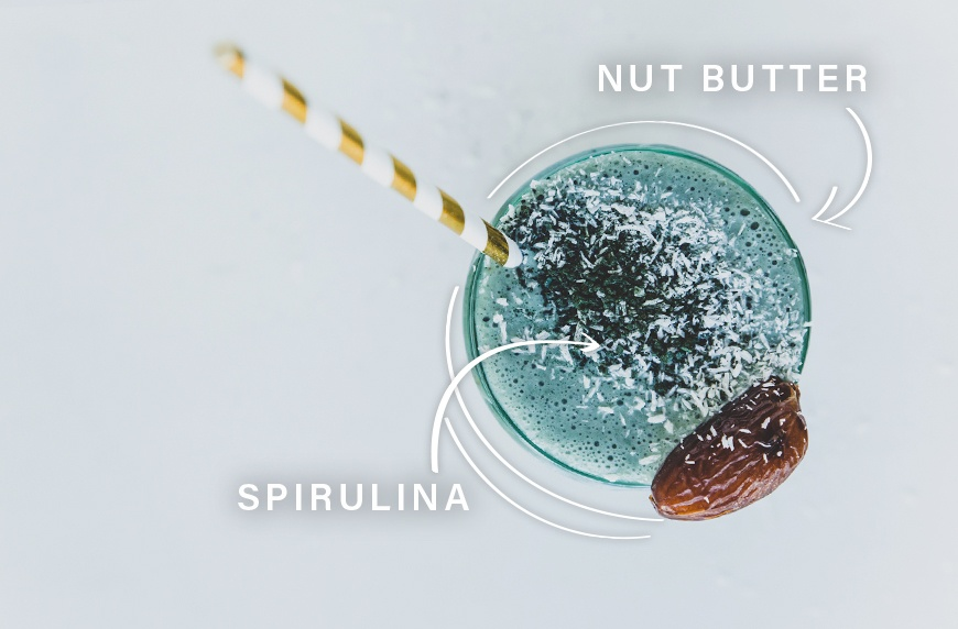 spirulina and nut butter