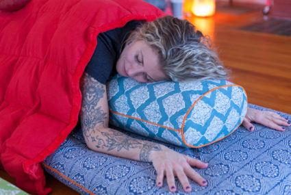What is blanket yoga and how can it help you stay cozy (and calm) this winter?
