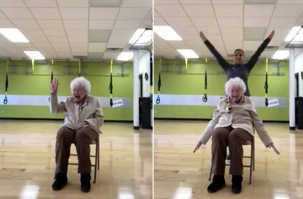 This exercise-loving 93-year-old will make you smile through your next sweat sesh