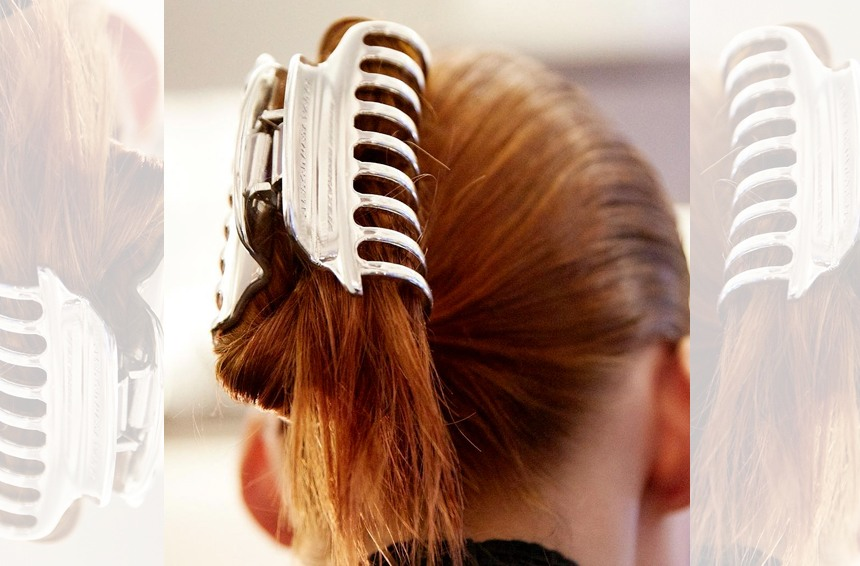 Thumbnail for Calling it: Retro '90s claw clips are the newest cool-girl hair accessory