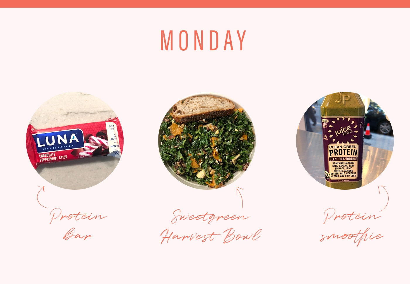 soulcycle food diary monday