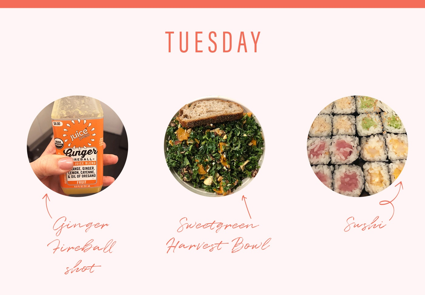 soulcycle food diary tuesday