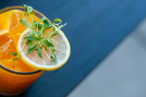 Serve up a savory sip for happy hour with this turmeric carrot cocktail recipe