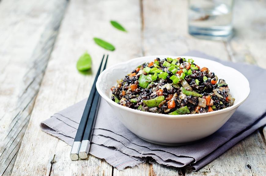 black rice bowl