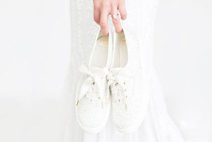 Since wedding sneakers are now a thing, it's a comfy time to be a bride