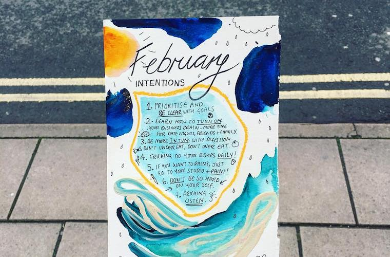 Pretty intention-setting journals on Instagram