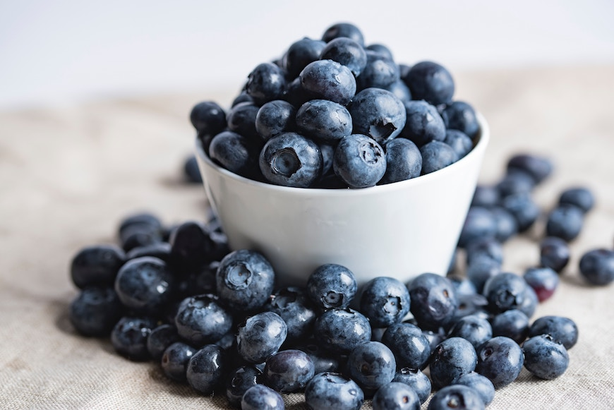 Blueberries healthy eating