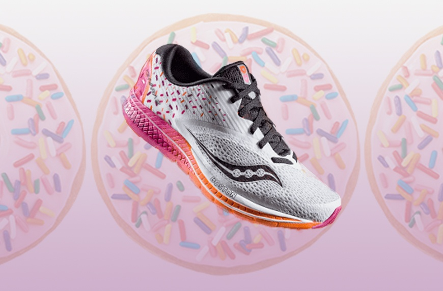 For the Boston Marathon: a Pair of Dunkin' Donuts Sauconys