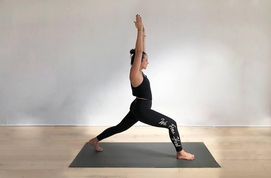 Yoga pose high lunge