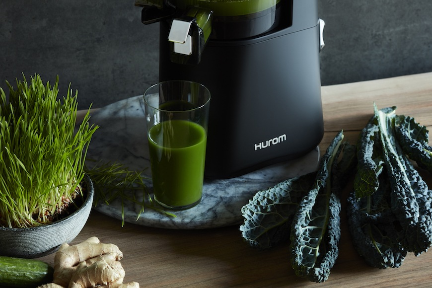 Hurom slow juicer at home
