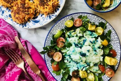 Serve Easter brunch Paleo-style with this recipe for blue eggs and hash