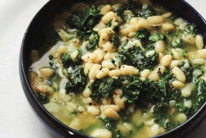 Get your greens fix outside of the salad bowl with this vegetarian kale soup