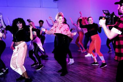 "Meghan Trainor's ""No Excuses"" Zumba music video"