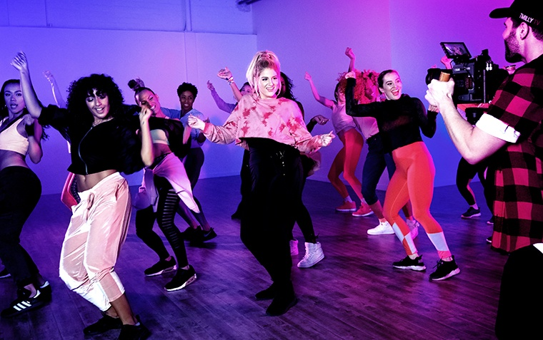 Thumbnail for Meghan Trainor's new music video doubles as a confidence-boosting Zumba sweat sesh