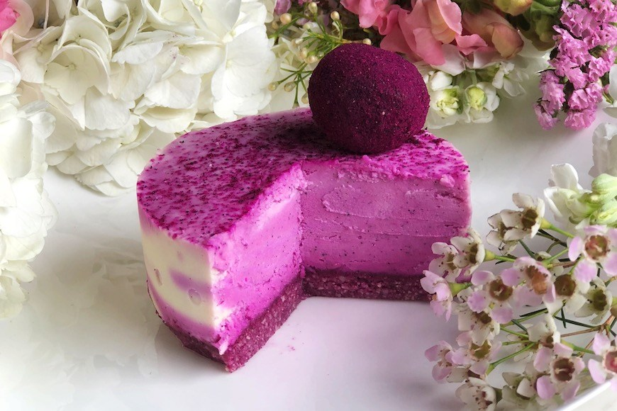 "Thumbnail for Channel Warm-Weather Vibes With This Dreamy Dairy-Free Dragonfruit ""Cheesecake"""