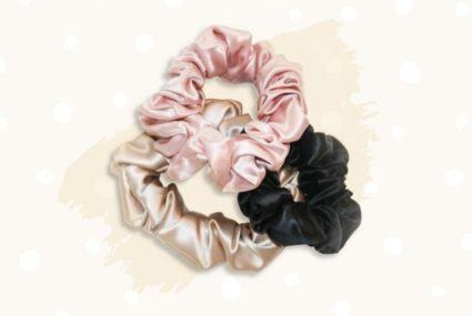 Silk scrunchies are the new retro post-gym trend