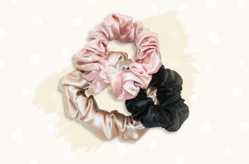 Thumbnail for Luxe Silk Scrunchies Are the Newest Way to Give Your Hair a Spa-Like Treatment