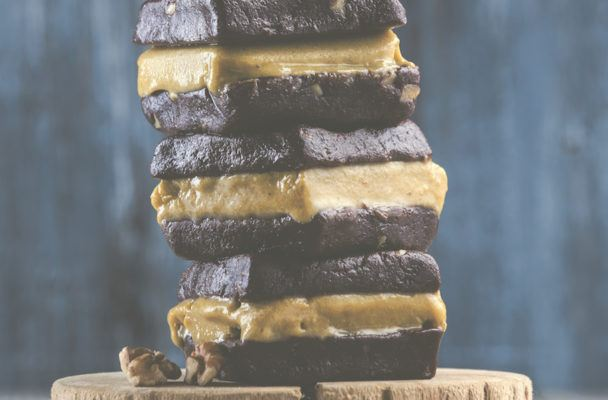 These golden milk ice cream brownie sandwiches are as decadent as they are healthy