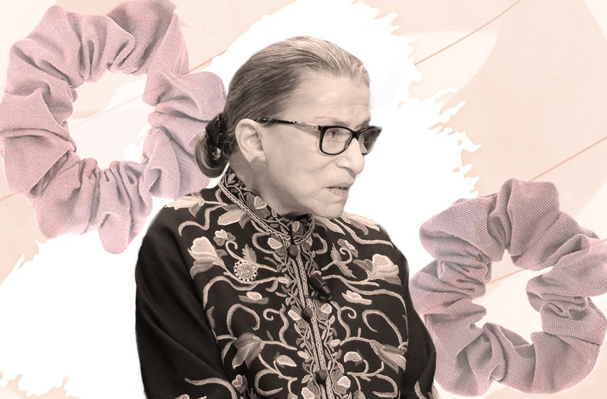 Thumbnail for OG Scrunchie Style Icon Ruth Bader Ginsburg Says the Best Ones Come From *This* European Country