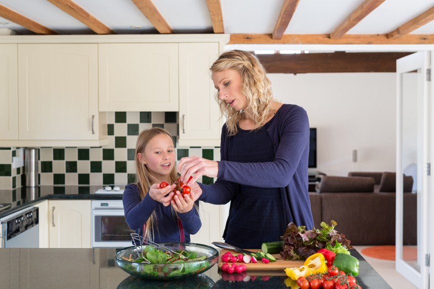 talking about veggies with kids