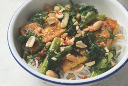 Vegetarian Viet Nam Turmeric Tofu Rice Noodles