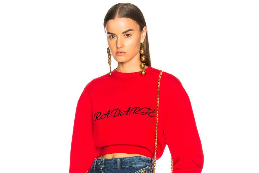 rodarte crop sweatshirt