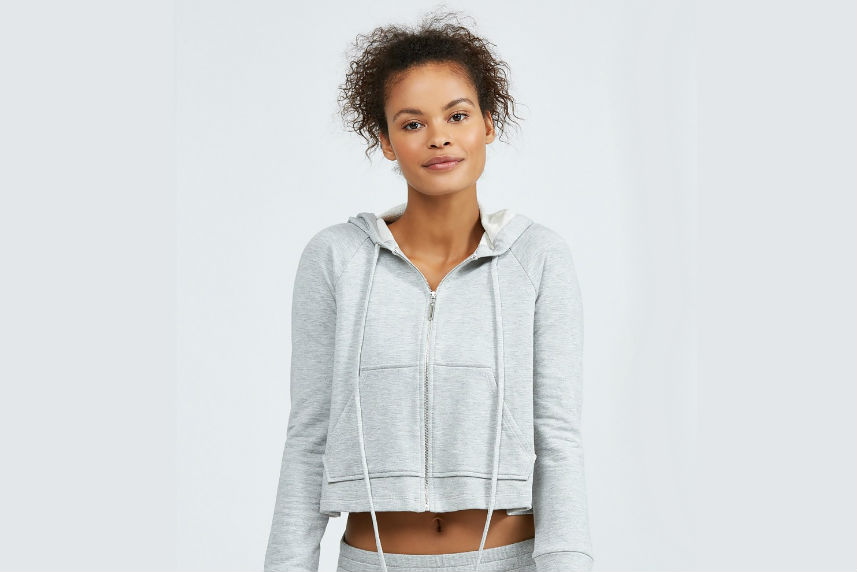 a cropped sweatshirt from bandier