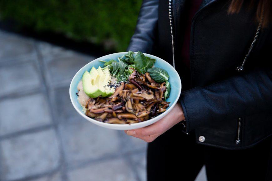 Avocado Miso Mushroom Bowl