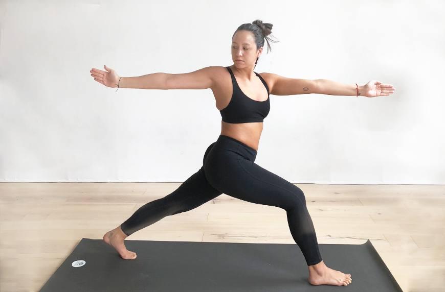 High lunge T-twist yoga pose
