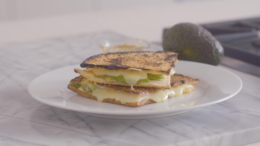 cauliflower keto grilled cheese