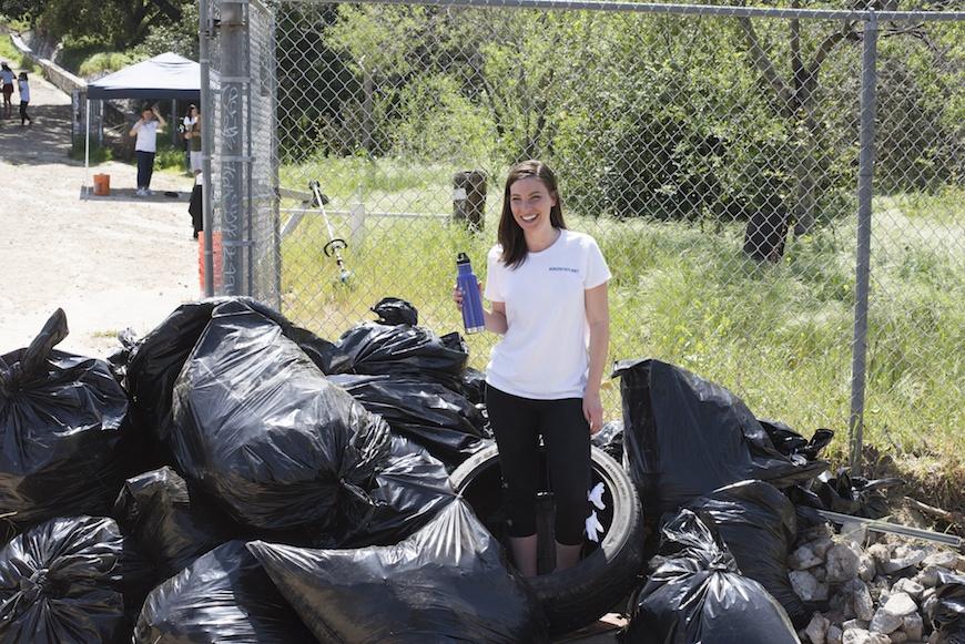 Origins LA Event trash pickup