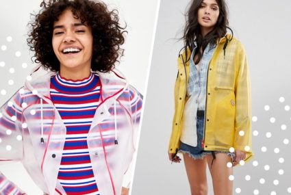 9 sheer raincoats that'll show off your chic athleisure during spring showers
