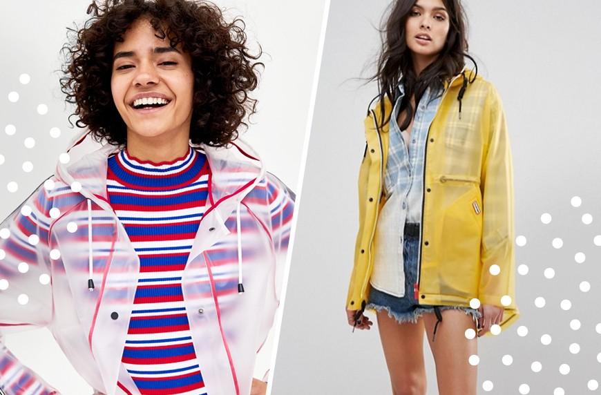 Thumbnail for 9 sheer raincoats that'll show off your chic athleisure during spring showers