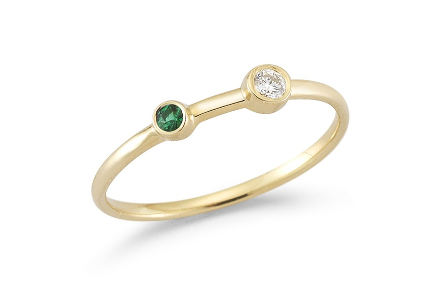 Barbela Design Emerald and Diamond Duo Ring