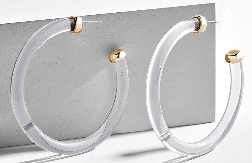 Baublebar Leia Lucite Hoop Earrings, $38