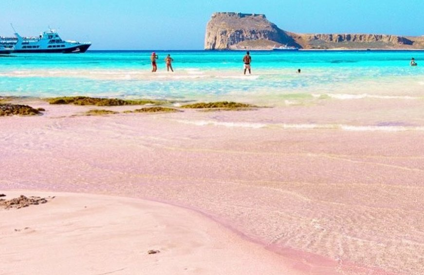 are there pink beaches