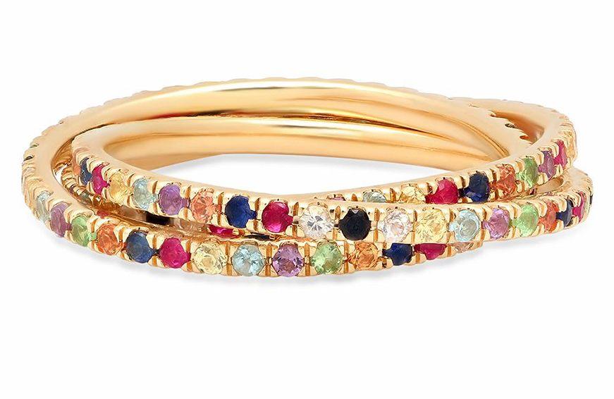 Eriness Multi-Colored Interlocking Rings, $1,200