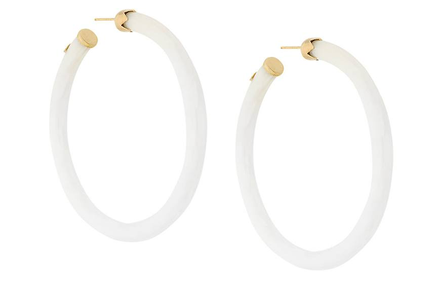 Gas Bijoux Caftan Hoop Earrings, $172