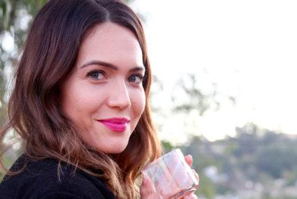 Why Mandy Moore stores face masks in the minibar
