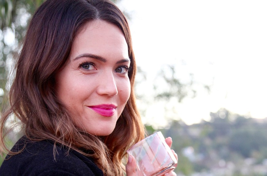 Thumbnail for Mandy Moore stores this beauty product in her hotel minibar—here's why