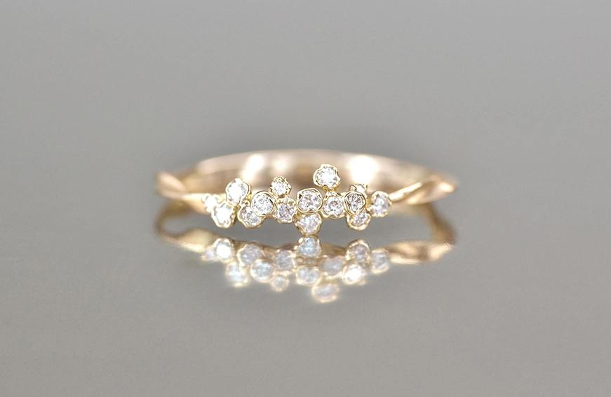 Kataoka Diamond Cluster Ring-Petite, $2,280