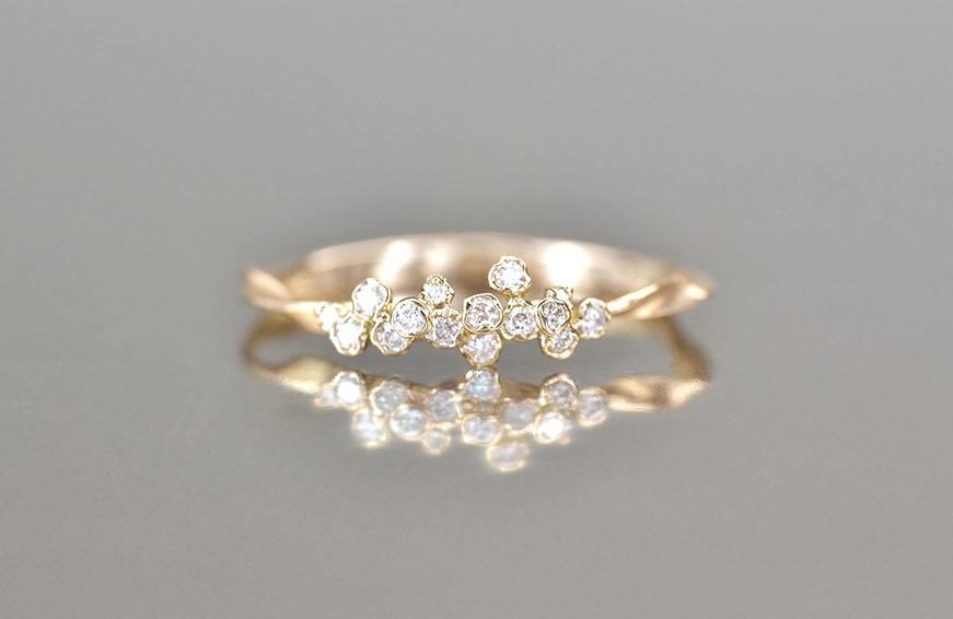 Kataoka Diamond Cluster Ring-Petite, $2,280